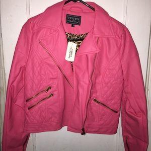 Leather Motto Jacket